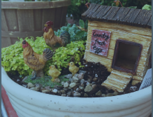 Make an Easter Chicken Fairy Garden