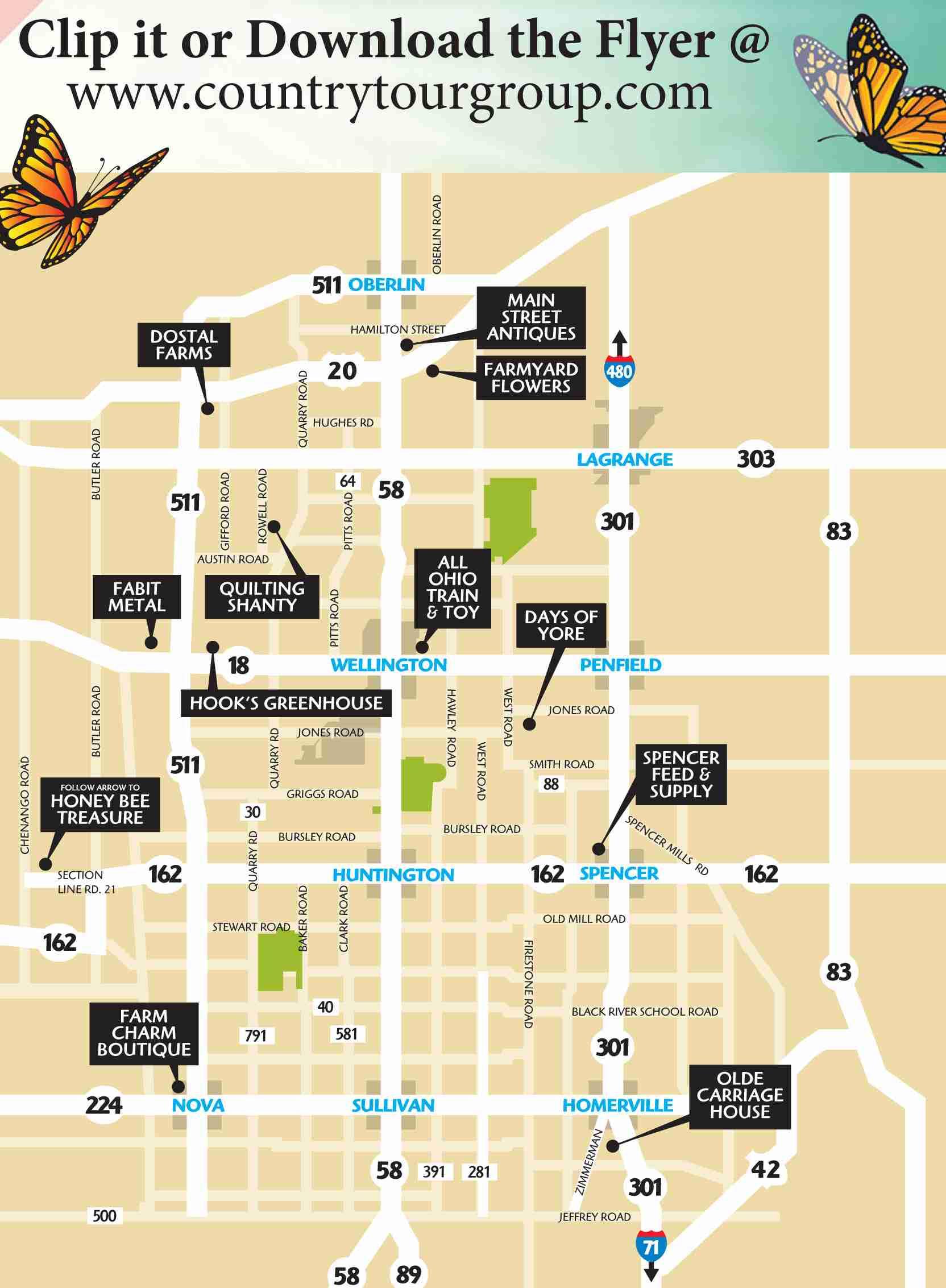 2021 Bag Lady Tour Map